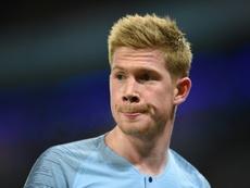 De Bruyne se lesionó ante el Bournemouth. AFP