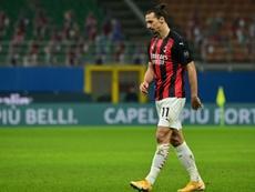 Zlatan Ibrahimovic a évoqué la rencontre contre l'Atalanta. AFP