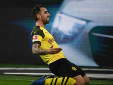 Alcacer scored the decisive goal against Bayern. AFP
