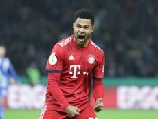 Gnabry dio vida al Bayern con su doblete. AFP