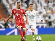 Franck Ribéry só ficou atrás de Cristiano Ronaldo e Messi no prêmio de 2013. AFP