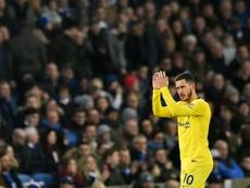 Hazard sigue en la órbita del Real Madrid. AFP