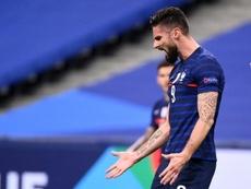 La Eurocopa, el motivo por el que Giroud quiere salir en invierno. AFP
