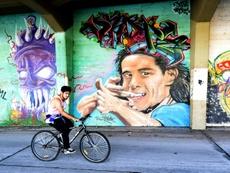 Salto, la ciudad de Cavani, Suárez y el gol. AFP