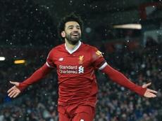 Salah sería el 'plan B' del Barça. AFP