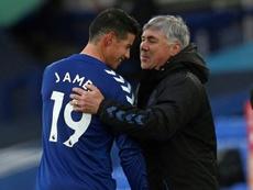 Ancelotti tranquilizó sobre el estado de James. AFP