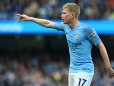De Bruyne was happy to be back in action on Tuesday. AFP
