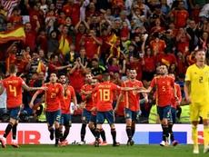 Sorteo benévolo para España. AFP