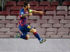El último gol de Messi, elegido como el mejor de la Champions 2019-20. AFP