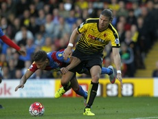 Sebastian Prodl is into his third season at Vicarage Road after joining from Werder Bremen. AFP