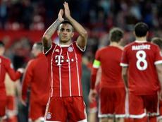 Thiago, un paso más cerca de irse al Liverpool. AFP/Archivo