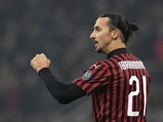 Zlatan Ibrahimovic fait du Zlatan Ibrahimovic après la victoire contre Turin. AFP