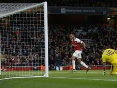 El Rennes no fue rival para un Arsenal con 11. AFP