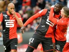 M'Baye Niang n'exclut pas de rester à Rennes. AFP