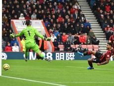 El Bournemouth le arranca tres puntos al United. AFP