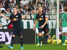 El Leipzig ha goleado al Werder Bremen. AFP