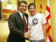 Laporta volvió a hablar de Leo Messi. AFP