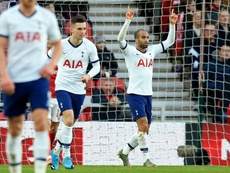 Lucas Moura salvó al Tottenham. AFP