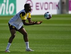 Moukoko activa la cuenta atrás a base de 'hat tricks'. AFP
