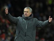 Mourinho quiso evitar a los medios en rueda de prensa. AFP