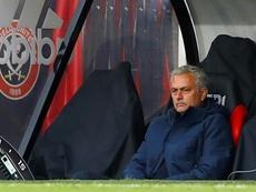 Mourinho isn't happy. AFP