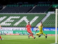 Kai Havertz scored twice in Leverkusen's win over Bremen. AFP