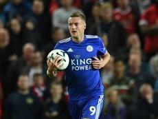 Vardy tiene contrato con el Leicester hasta 2022. AFP