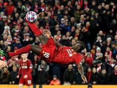 O Liverpool prepara uma melhora anti-Madrid para Mané. AFP