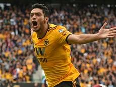 Jiménez es el máximo goleador del Wolverhampton. AFP