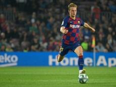 Trouble for Barça: Frenkie de Jong injured. AFP