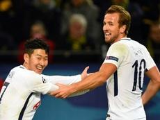 Son Heung-Min e Harry Kane estão plenamente recuperados. AFP