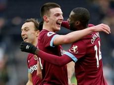 Moses, Rice y Emerson, protagonistas en el Chelsea. AFP