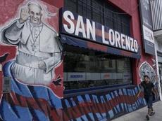 El caos en el vestuario de San Lorenzo. AFP