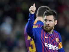 Messi segue o Atlas no instagram. AFP