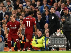 Salah has apparently had a mass argument with Klopp. AFP