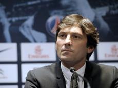 Leonardo y Tuchel ven difícil que siga Cavani. AFP