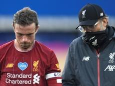 Klopp annonce la fin de saison pour Henderson. AFP