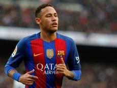 Neymar heaped praise on Lucas Lima. AFP