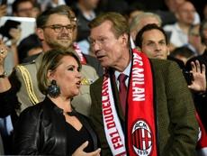La Familia Real de Luxemburgo no se quiso perder la visita del Milan. AFP