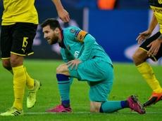 Barcelona, há mais de quatro meses sem ganhar fora de casa. AFP