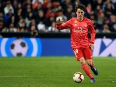Odriozola no tiene sitio en el Real Madrid. AFP
