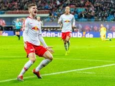 Timo Werner, con contrato hasta 2020, parece decidido a abandonar el RB Leipzig. AFP