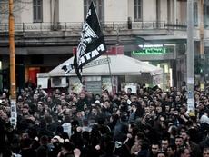En Grecia, todo parado. AFP