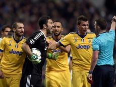 Buffon no se olvida del Bernabéu. AFP