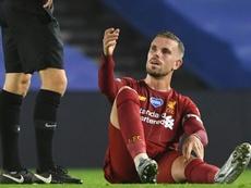 Liverpool confirma lesão de Henderson. AFP