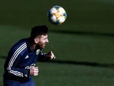 Messi, criticado por su ex compañero. EFE