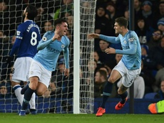 Laporte's header opened the scoring in first half added time. AFP