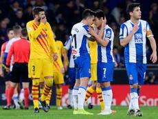 Estos son los onces probables del Barcelona-Espanyol. AFP
