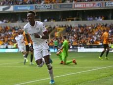 Abraham marcó tres goles en portería contraria y uno en propia ante los Wolves. AFP