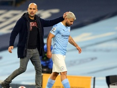 Agüero could be out for a month. AFP